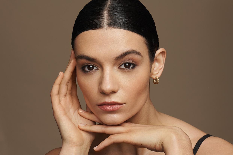 Model Wearing Vegan Lipstick