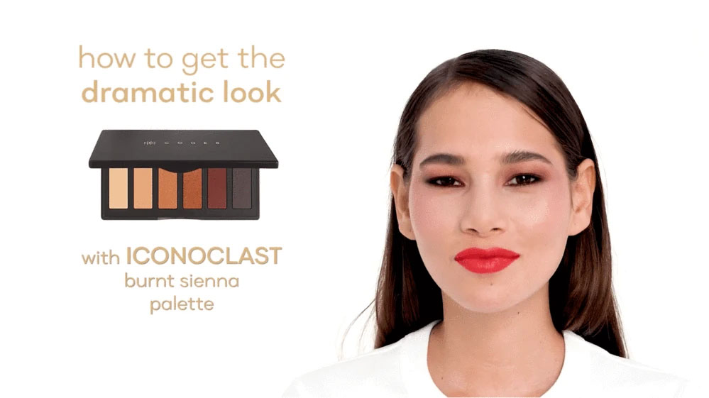 How to get a Dramatic Look Using Code 8 Iconoclast Burnt Sienna Palette