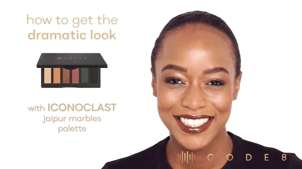 How to Get the Dramatic Look with Code8 Iconoclast Jaipur Marbles Palette