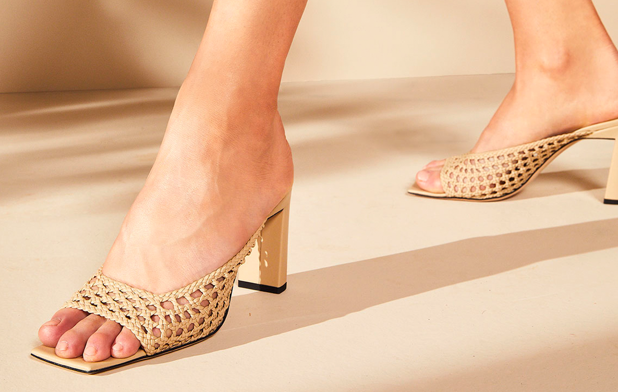 Woven Mule Sandals