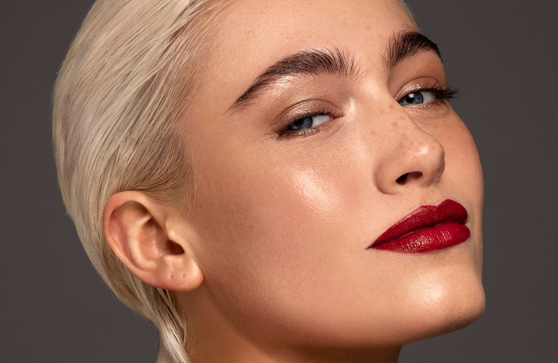 Bold Red Lip Look