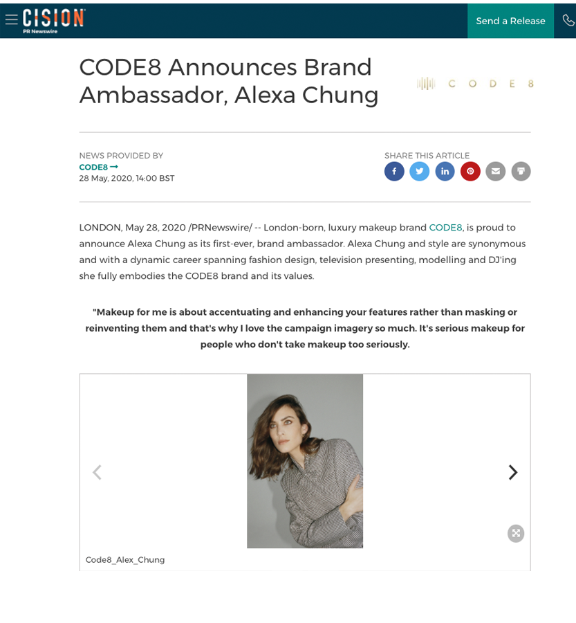 Code8 in Prnewswire.co.uk
