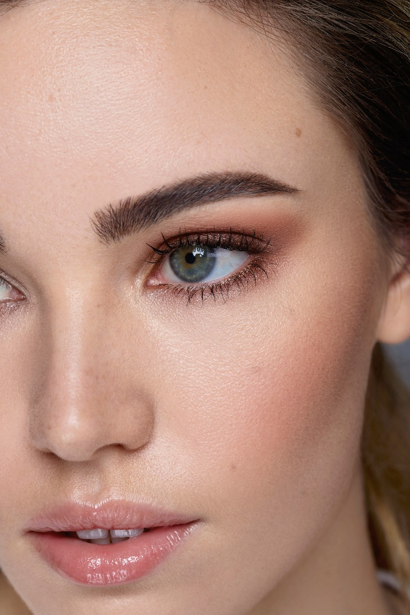 Tamed Eyebrows Close Up
