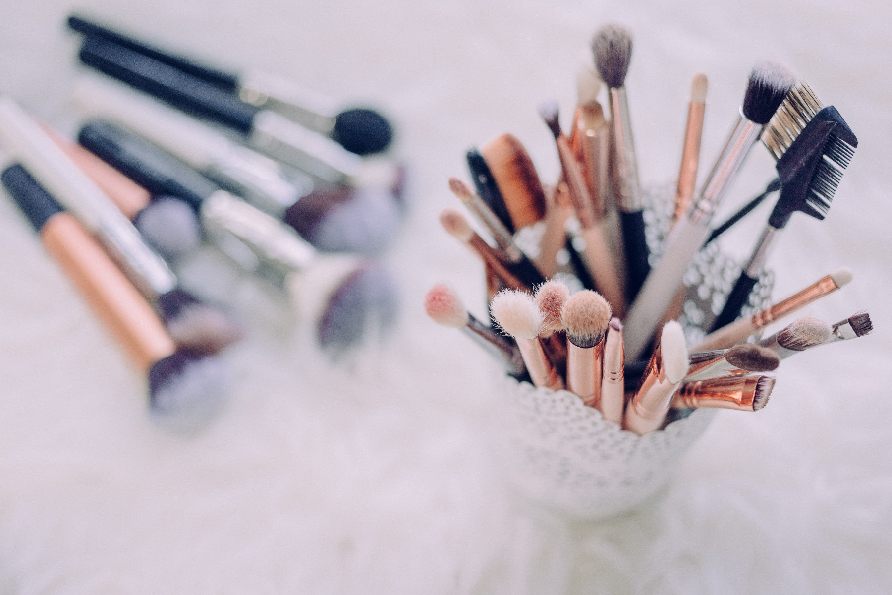 Clean Foundation Brushes