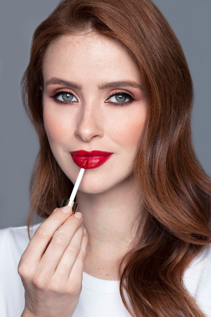 Woman Wearing Vitamin Enriched Makeup