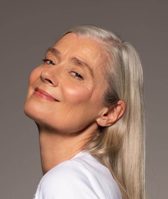 Mature Woman Wearing Paraben Free Foundation