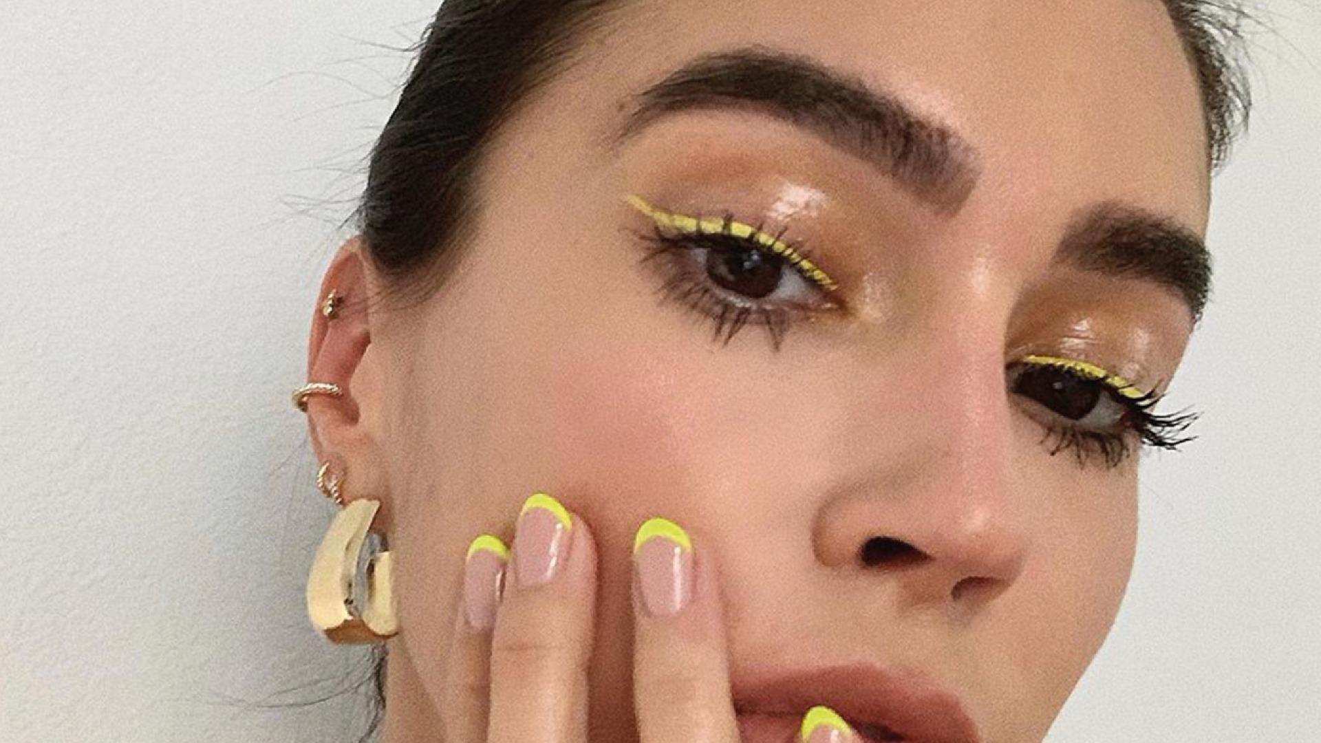 Bold Eyeliner Look - Yellow