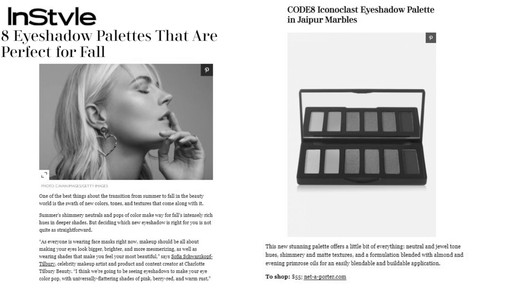 Code8 on InStyle