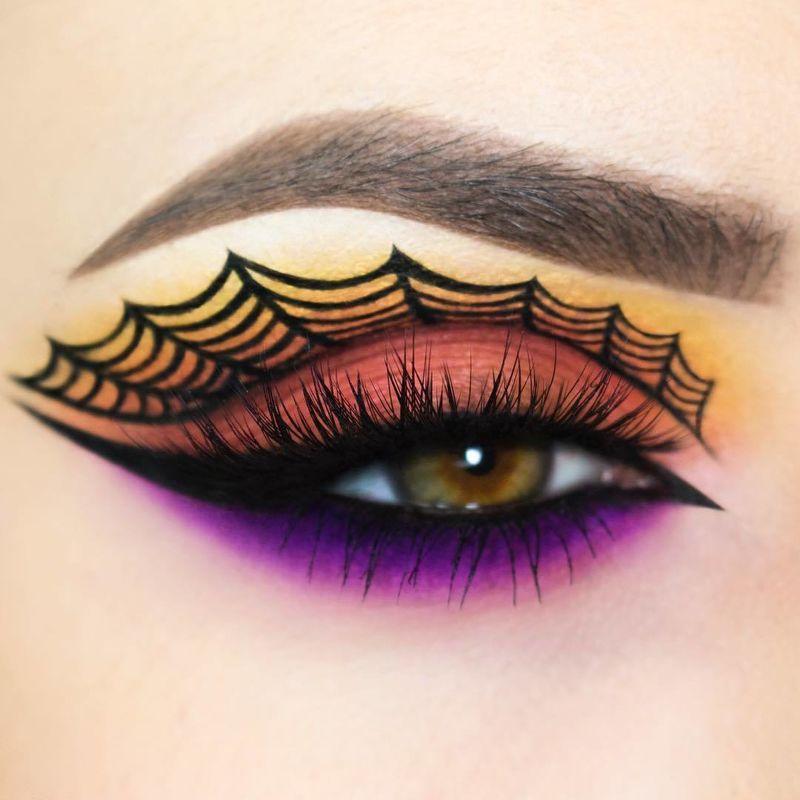 Spider Eye Makeup Look For Halloween