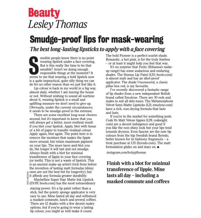 Code8 in Sunday Times Magazine