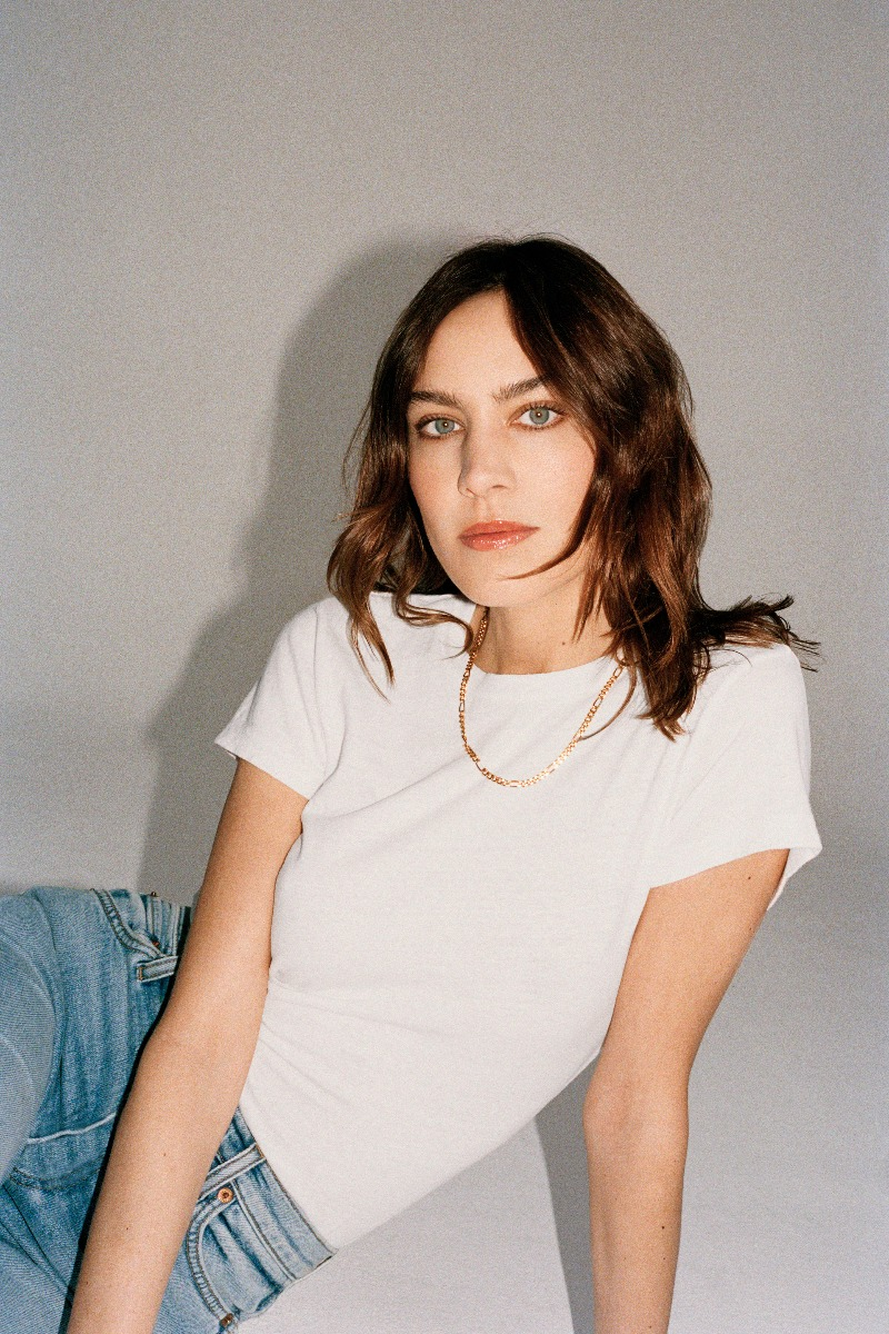 Alexa Chung Campaign Shoot For Code 8